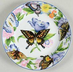 American Atelier Butterfly Salad/Dessert Plate
