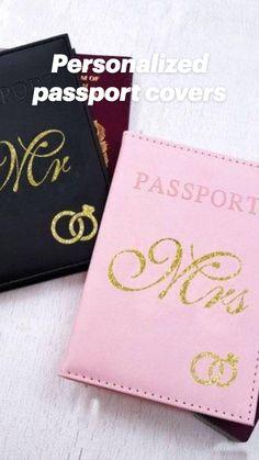 Monogrammed Bride Mrs Wedding Hen Party Personalised Passport Cover Party Weekend Bachelorette Bride Passport Case Wallet Holder Travel Bridesmaid