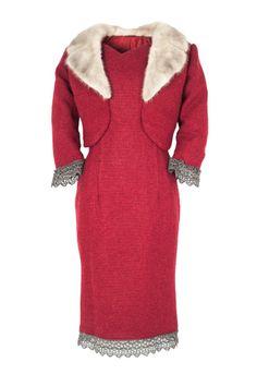 Elaine Mackenzie - Harris Tweed - Dress, called 'First Class' Summer red colour
