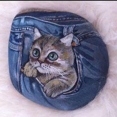 Kot pantolonunuzu giyerken dikkatli olun, cebinden böyle yaramaz bir kedi…
