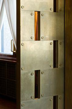 Pocket Door, Villa Necchi Campiglio, Milan, Italy  (1935 Architect Piero Portaluppi)