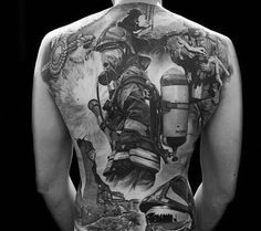 Insane firefighter tattoo