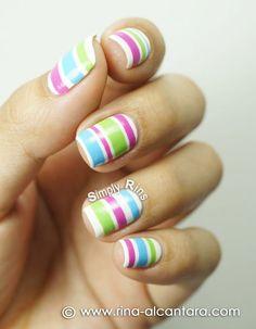 Lindos Diseños de Uñas con Rayas - Manicure                                                                                                                                                                                 Más