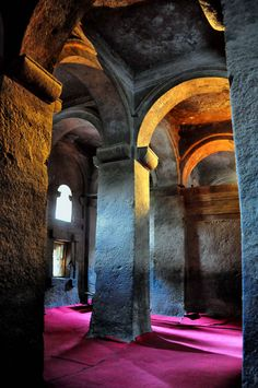 Inside Of a Rock Hewn Church, Lalibela .Ethiopia