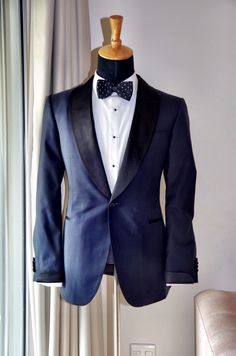 Perfect Navy Tuxedo awaiting for collection from my client. LM MADE TO MEASURE Premium Collection.
