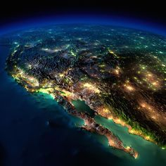 Mexico and the western U.S. states - earth seen from space at night by nasa (5)