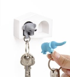 Duo Elephant Key Ring | Cromly Shop