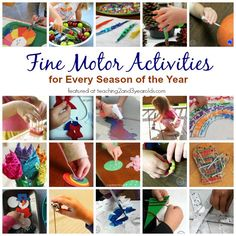 Fine Motor Skill Activities for Every Season that Are Perfect for Preschoolers - Teaching 2 and 3 Year Olds Preschool Fine Motor Skills, Fine Motor Activities For Kids, Activities For 2 Year Olds, Motor Skills Activities, Preschool Learning Activities, Sensory Activities, Preschool Activities, Preschool Centers, Teaching Resources