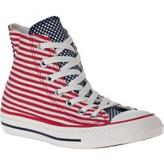 CONVERSE WOMEN'S Chuck Taylor All-Star Hi-Top Sneaker American Fabric ($55) ❤ liked on Polyvore