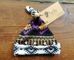 Baby Girl Tribal Newborn Beanie by SilverPencilsHome, $23.95