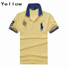 Ralph Lauren Men UAE Big Pony Short Sleeve Polo Yellow