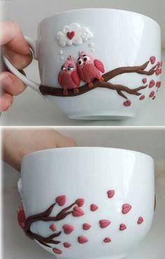 Barbie mug and spoon fimo Polymer Clay Kunst, Fimo Clay, Polymer Clay Charms, Polymer Clay Projects, Polymer Clay Creations, Clay Crafts, Polymer Clay Jewelry, Diy Fimo, Crea Fimo