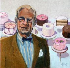 Wayne Thiebaud with  Cakes -- Liza Hirst  Wayne Theibaud is the inspiration for the Abrakadoodle art activity at Stockley Gardens Art Festival May 2012