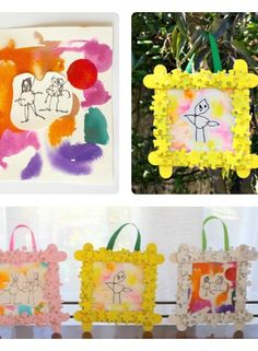 Homemade Framed Kids Art Perfect for Mother's Day #myperfectmothersday