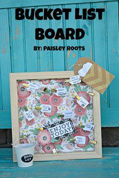 Bucket List Board -- Tatertots and Jello