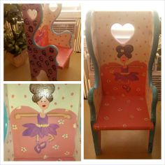 ~ Ballerina Doll Chair~ Re-purposed Vintage Artistic Chair. ... https://www.facebook.com/Artsy.Me.by.L.Marie