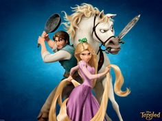 """Flynn"", ""Rapunzel"" and ""Maximus"", Tangled. Haha!"