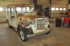 Barn Find 1951 Willys 4x4 Wagon - http://barnfinds.com/barn-find-1951-willys-4x4-wagon/