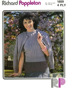 Vintage Ladies Twin Set, Knitting Pattern, 1960/1970 (PDF) Pattern, Richard Poppleton 1659 by LittleJohn2003 on Etsy