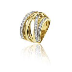 Huiscollectie 21-02-TR Gouden ring met diamant