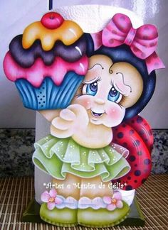 Solve Cupcake jigsaw puzzle online with 88 pieces Tole Painting, Fabric Painting, Wooden Crafts, Diy And Crafts, The Joy Of Painting, Country Paintings, Pallet Art, Paper Piecing, Ladybug