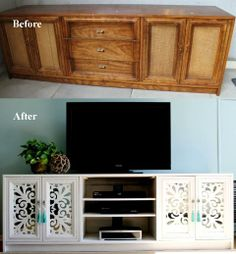 #Upcycling Media console under $50