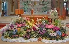 easter altar decorations | The altar is made of wood and is in the middle of the transept; here ...