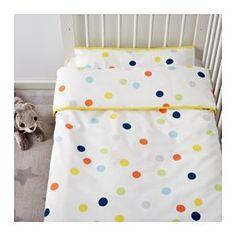 DRÖMLAND Housse couette et taie bébé, multicolore - multicolore - IKEA