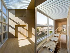 stairs for artistic dancing feet, stunning natural lighting for this dance studio/house