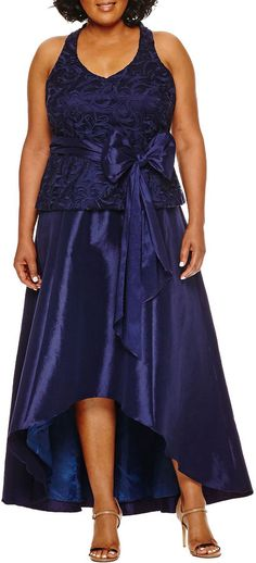 2e697bb443320 BLUE SAGE Blu Sage Sleeveless Lace Evening Gown-Plus Lace Evening Gowns