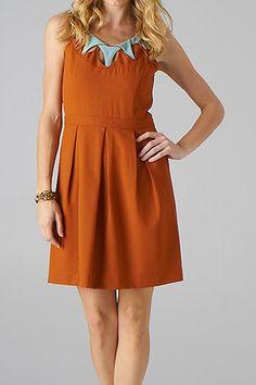 ed705f1c66 Longhorn Fashions - Burnt Orange Dress Blue Collar