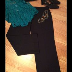 Alia Black Dress Pant Comfort fit classic black pant. Polyester/spandex blend. Excellent used condition. Alia Pants Trousers