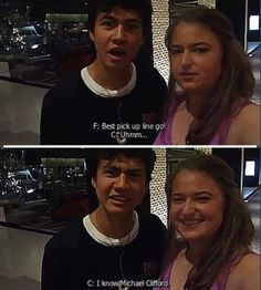 "Calum's best pick up line: ""I know Michael Clifford"" YAAAAAS"