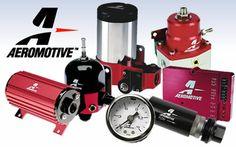 Aeromotive Fuel system components, fuel pumps, fuel pressure regulators, fuel filters, fuel rails, fuel tanks, electronics, plumbing and accessories