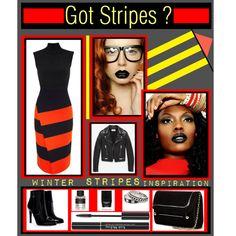 """Got Stripes?"" by latoyacl on Polyvore"
