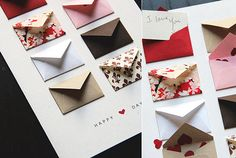 "Such a cute way to send love notes! <3 <3 <3 ""I love how this card will take a little bit of thought from the giver and a little bit of time to go through from the receiver. A great way to use a variety of patterned paper and palette..."""