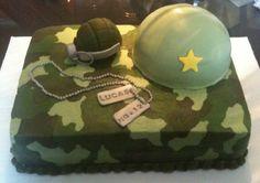 Army camo cake