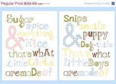 LIMITED TIME SALE 40 Off Twins Nursery Art Boy by LittlePergola, $19.20