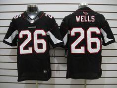 Cardinals #26 Wells black Mens Elite NFL Jersey  ID:964510014  $23