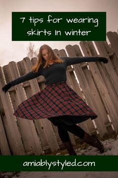 7 Tips for Wearing Skirts in Winter - Amiably Styled - - 7 Tips for Wearing Skirts in Winter on Amiably Styled. Sustainable, ethical, conscious fashion tips. Source by amiablystyled Slow Fashion, Ethical Fashion, Fashion Brands, Fashion Group, Fashion Outfits, Fashion Tips, Fashion Skirts, Cozy Winter Fashion, Eco Friendly Fashion