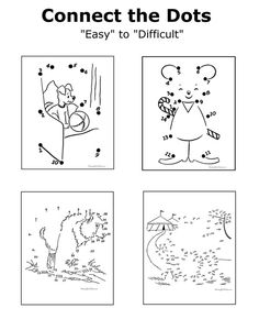 HUNDREDS of printable connect the dots!   From easy to difficult.