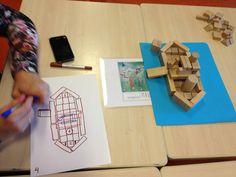 opdracht: nav een premtenboek. ( betekenis)  Bouween boot voor eend en maak daarna een bouwtekening. Een ander groepje bouwt later de bouwtekening na.