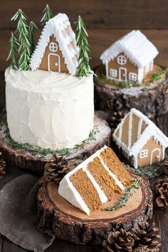 Gingerbread Cake with Cream Cheese Frosting   - CountryLiving.com