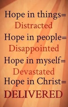 Hope In Christ Delivered'