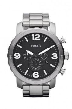 Fossil Nate Chronograph heren horloge JR1353 | JewelandWatch.com
