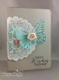 Butterfly Basics Doily Card by BronJ - Cards and Paper Crafts at Splitcoaststampers