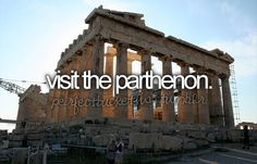 visit the parthenon