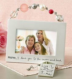 Mom, I Love You to the Moon and Back Artisan Frame  1-800Flowers.com