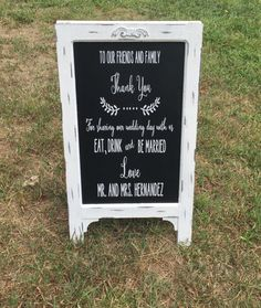 A personal favorite from my Etsy shop https://www.etsy.com/listing/249324613/wedding-easel-rustic-chalkboard-vintage