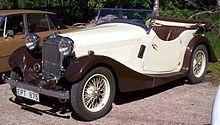 British SALMSON 12 70 4 Asientos Tourer 1935 2.